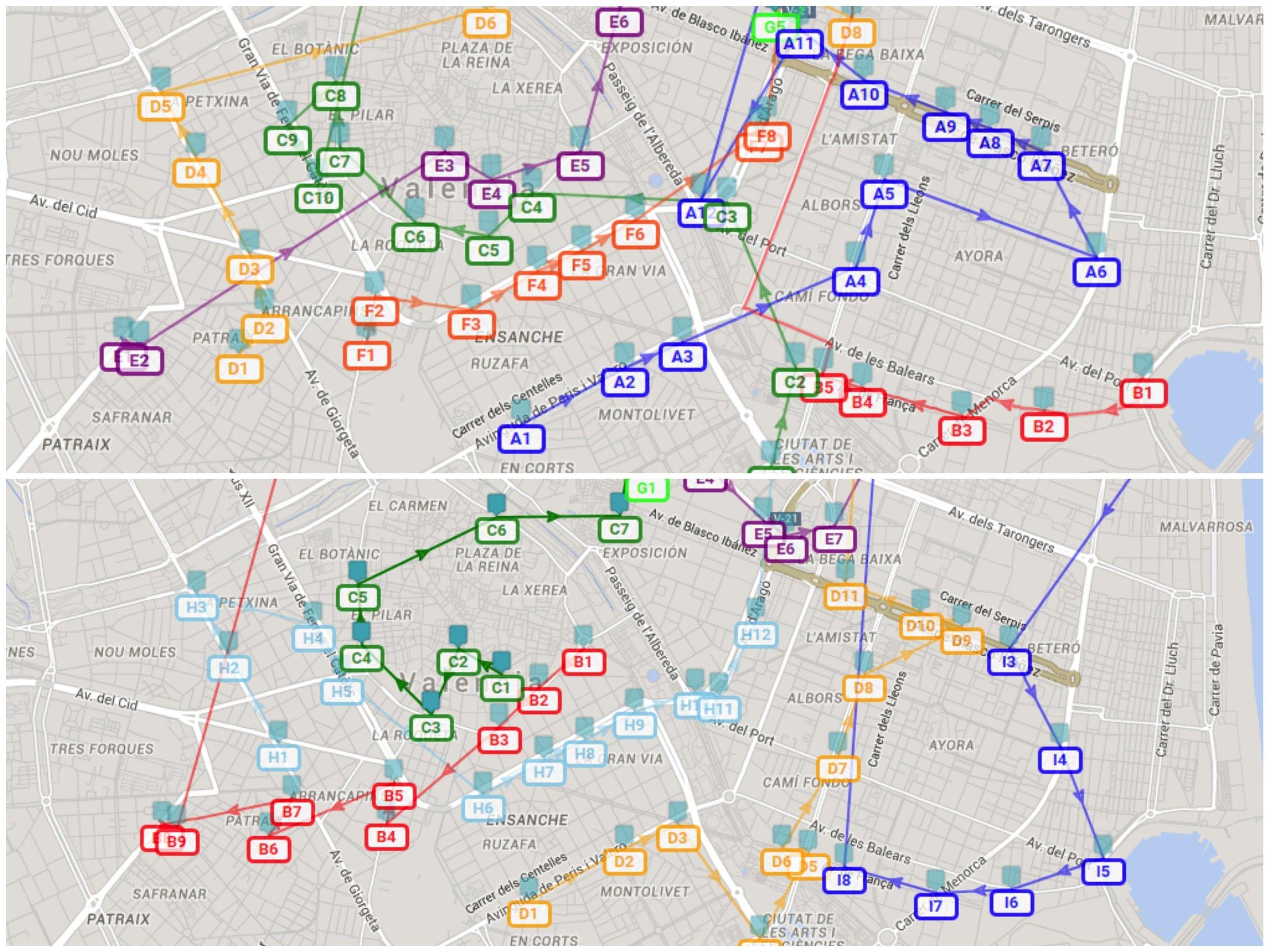 Optimización de rutas de transporte escolar